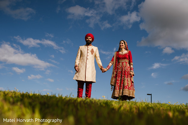 First Look in Boston, MA Sikh Wedding by Matei Horvath Photography