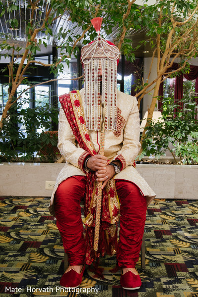 Groom Portrait in Boston, MA Sikh Wedding by Matei Horvath Photography