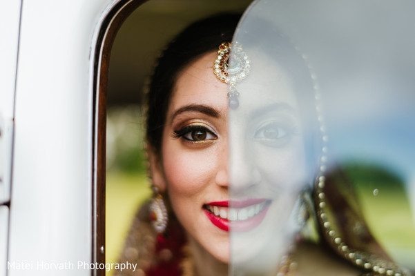 Bridal Portrait in Boston, MA Sikh Wedding by Matei Horvath Photography