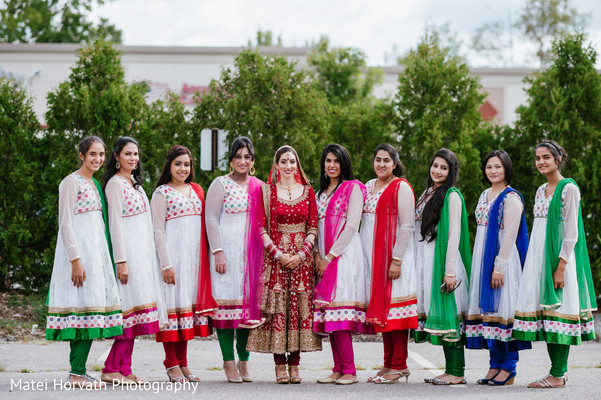 Bridal Party in Boston, MA Sikh Wedding by Matei Horvath Photography