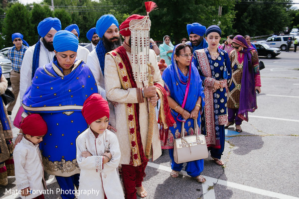 Baraat in Boston, MA Sikh Wedding by Matei Horvath Photography