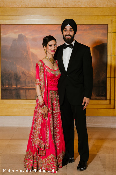Reception Portrait in Boston, MA Sikh Wedding by Matei Horvath Photography