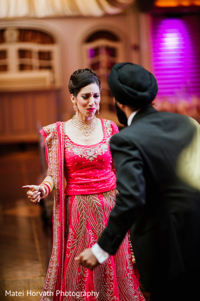 Reception in Boston, MA Sikh Wedding by Matei Horvath Photography