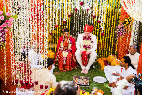 Ceremony in Jaipur Destination Indian Fusion Wedding by Kristin Speed Photography