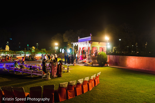 Reception in Jaipur Destination Indian Fusion Wedding by Kristin Speed Photography