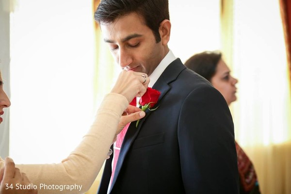 Groom Getting Ready in Plano, TX South Asian Wedding by 34 Studio Photography