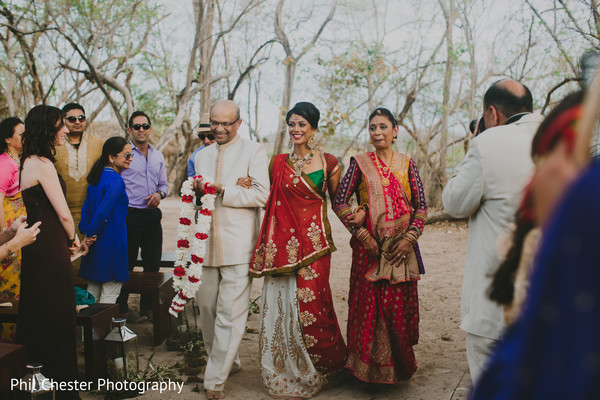 Ceremony in Costa Rica Destination Indian Wedding by Phil Chester Photography