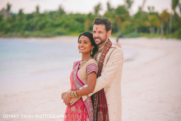 Portraits in Mexico Destination Indian Fusion Wedding by Dennis Kwan Photography