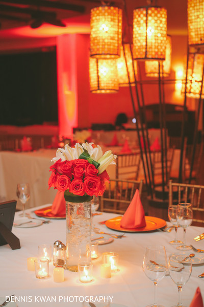 Reception in Mexico Destination Indian Fusion Wedding by Dennis Kwan Photography