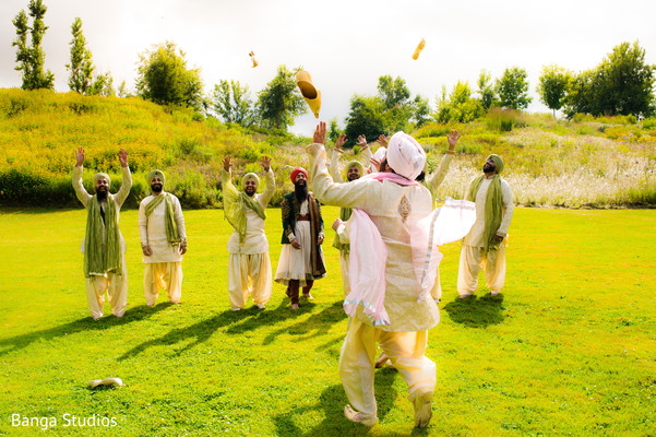 Groomsmen Portrait in Ontario, Canada Sikh Wedding by Banga Studios