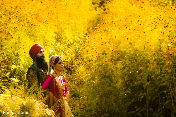 First Look in Ontario, Canada Sikh Wedding by Banga Studios