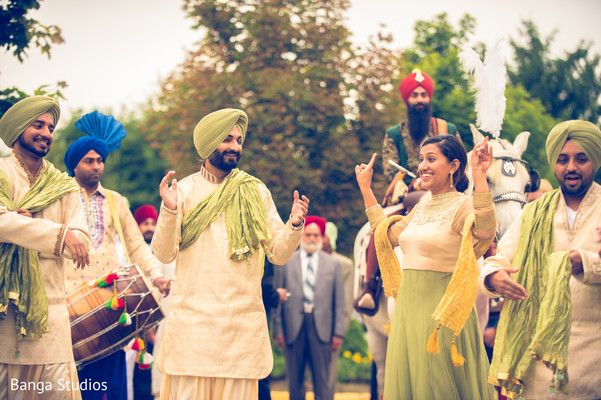 Baraat in Ontario, Canada Sikh Wedding by Banga Studios