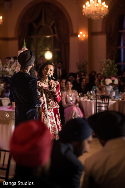 Reception in Ontario, Canada Sikh Wedding by Banga Studios