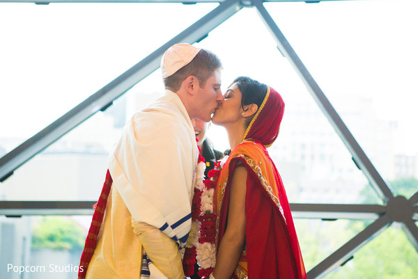 Ceremony in Ottawa , Canada Hindu-Jewish Fusion Wedding by Popcorn Studios