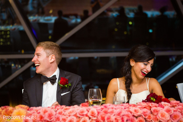 Reception in Ottawa , Canada Hindu-Jewish Fusion Wedding by Popcorn Studios