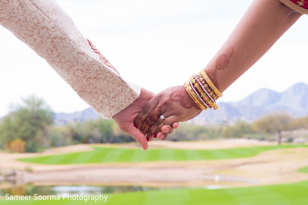First Look in Scottsdale, AZ Indian Wedding by Sameer Soorma Studios