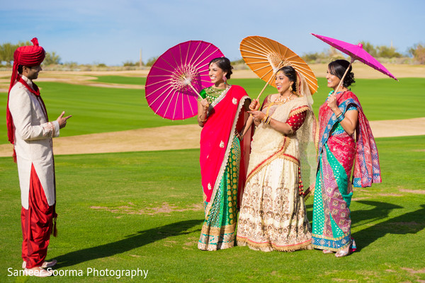 Bridal Party Portrait in Scottsdale, AZ Indian Wedding by Sameer Soorma Studios