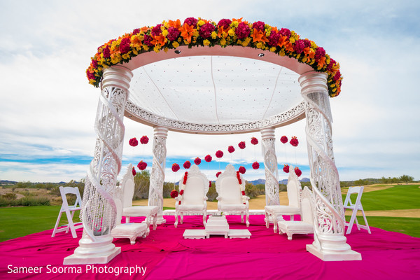 Mandap in Scottsdale, AZ Indian Wedding by Sameer Soorma Studios