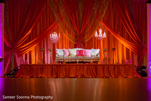 Sweetheart Stage in Scottsdale, AZ Indian Wedding by Sameer Soorma Studios