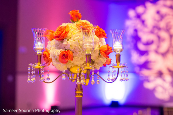 Centerpiece in Scottsdale, AZ Indian Wedding by Sameer Soorma Studios