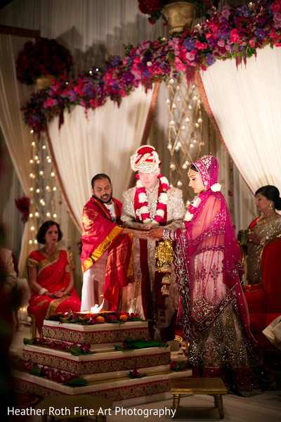 Ceremony in Tulsa, OK Hindu-Christian Fusion Wedding by Heather Roth Fine Art Photography