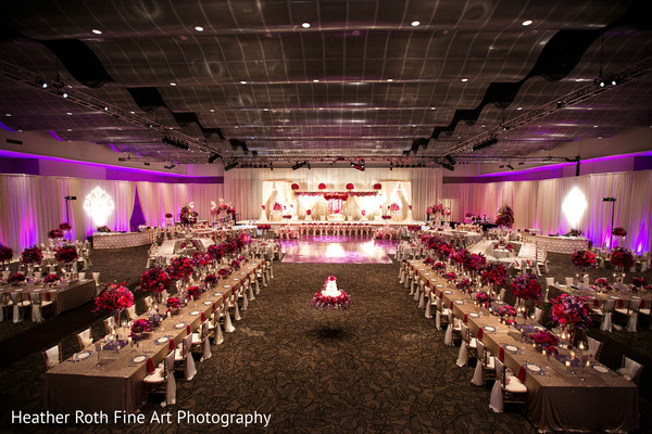 Reception in Tulsa, OK Hindu-Christian Fusion Wedding by Heather Roth Fine Art Photography