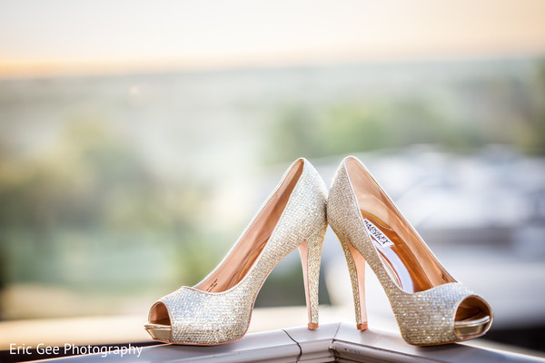 Shoes in Itasca, Illinois Indian Wedding by Eric Gee Photography