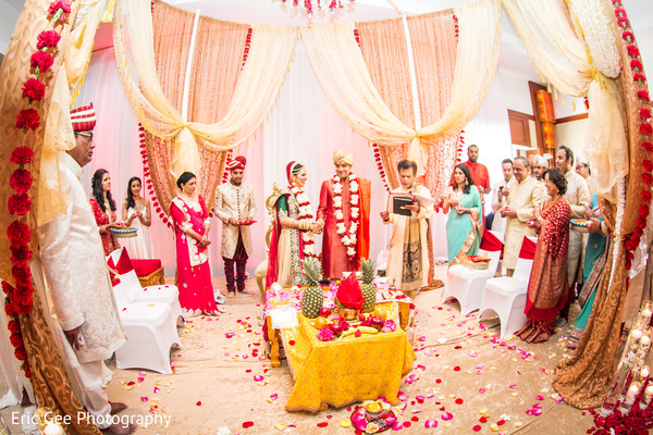 Ceremony in Itasca, Illinois Indian Wedding by Eric Gee Photography