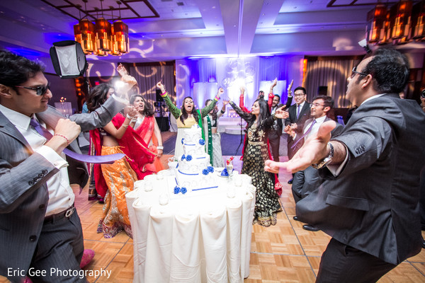 Reception in Itasca, Illinois Indian Wedding by Eric Gee Photography