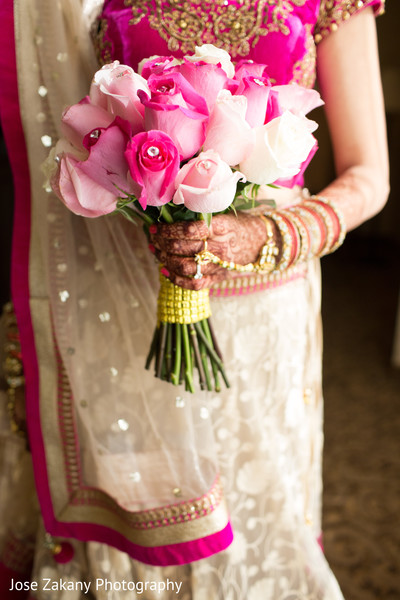 Bridal Bouquet in Anaheim, CA Indian Wedding by Jose Zakany Photography