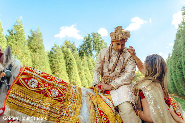 Baraat in Huntington, NY Indian Wedding by Golden Hour Studios
