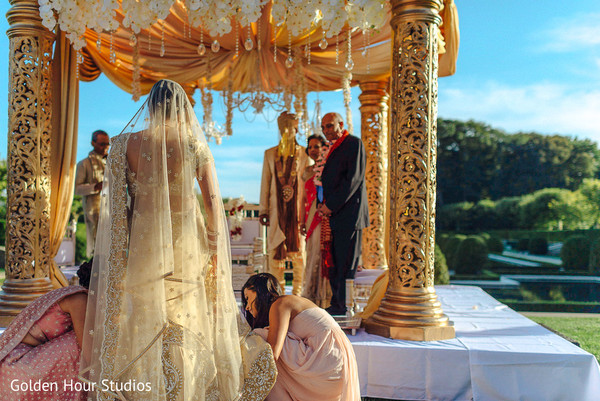 Ceremony in Huntington, NY Indian Wedding by Golden Hour Studios