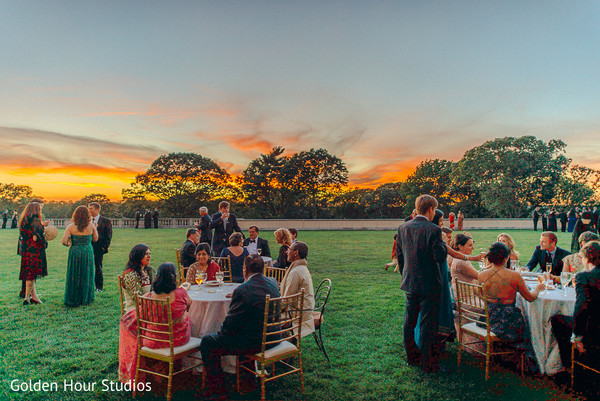 Reception in Huntington, NY Indian Wedding by Golden Hour Studios