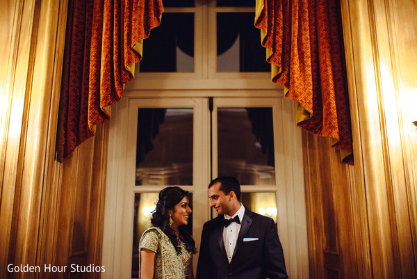 Reception Portraits in Huntington, NY Indian Wedding by Golden Hour Studios