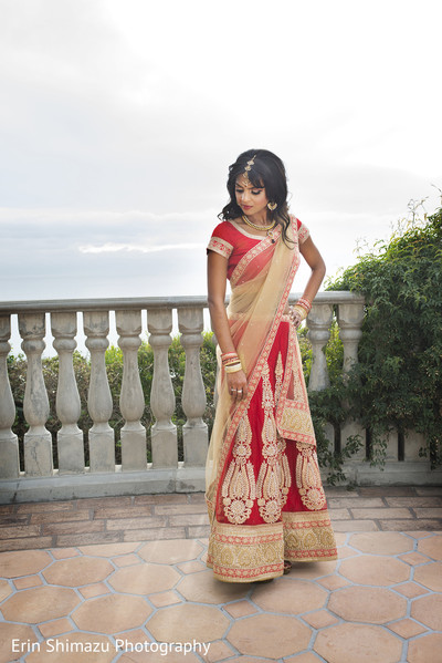 Bridal Portrait in Pacific Palisades, CA Indian Fusion Wedding by Erin Shimazu Photography