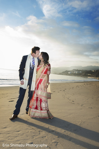 Portrait in Pacific Palisades, CA Indian Fusion Wedding by Erin Shimazu Photography