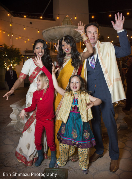 Reception in Pacific Palisades, CA Indian Fusion Wedding by Erin Shimazu Photography