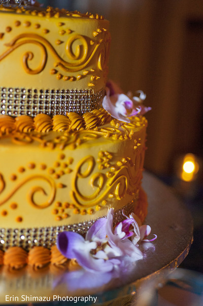 Wedding Cake in Pacific Palisades, CA Indian Fusion Wedding by Erin Shimazu Photography