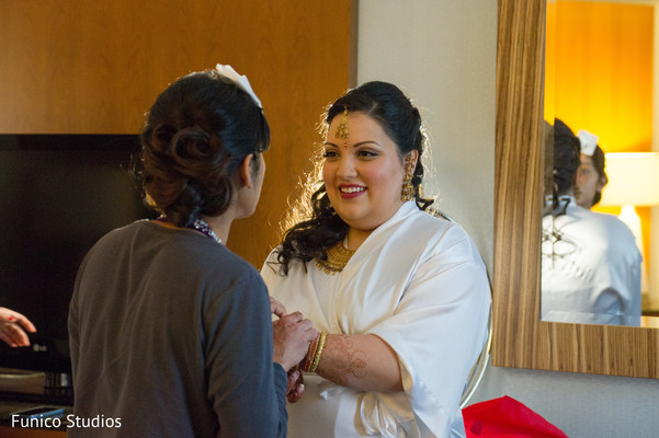 Getting Ready in Farmingdale, NY Indian Wedding by Funico Studios