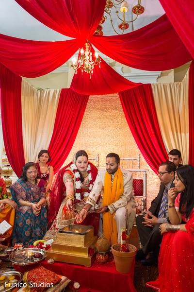 Ceremony in Farmingdale, NY Indian Wedding by Funico Studios