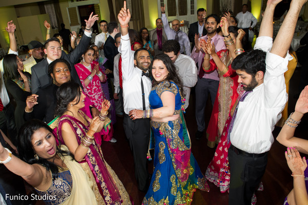 Reception in Farmingdale, NY Indian Wedding by Funico Studios