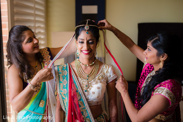 Getting Ready in Los Angeles, CA Indian Wedding by Lin & Jirsa Photography