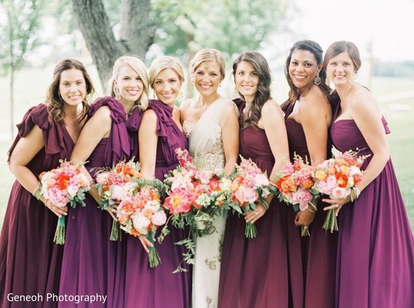 Bridal Party Portrait in Edgerton, WI Indian Fusion Wedding by Geneoh Photography