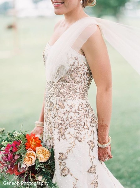 Bridal Fashion in Edgerton, WI Indian Fusion Wedding by Geneoh Photography