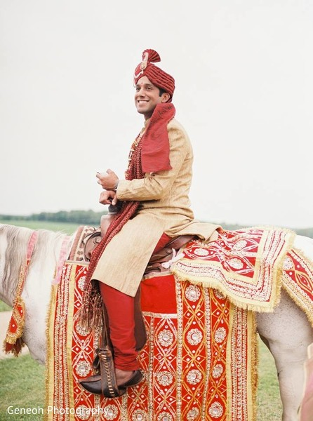 Baraat in Edgerton, WI Indian Fusion Wedding by Geneoh Photography