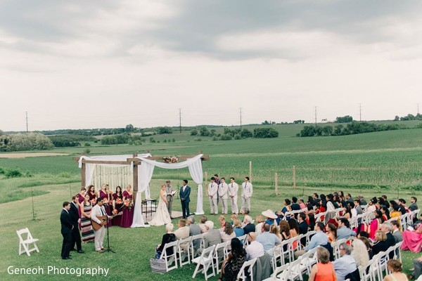 Ceremony in Edgerton, WI Indian Fusion Wedding by Geneoh Photography