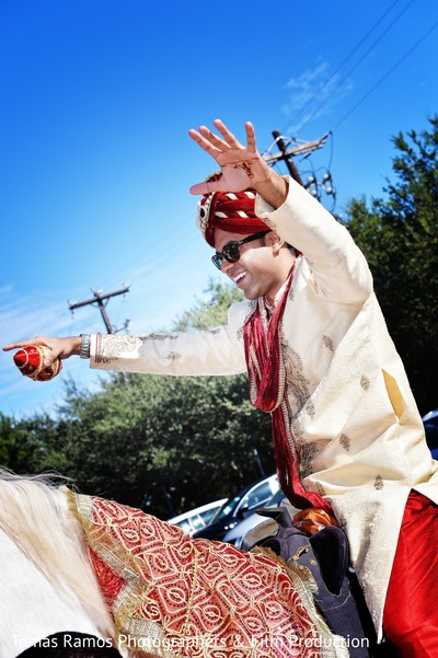 Baraat in Austin, TX Indian Wedding by Tomas Ramos Photographers