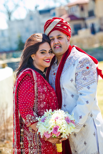 First Look in New Rochelle, NY Indian Wedding by MPW Media Group