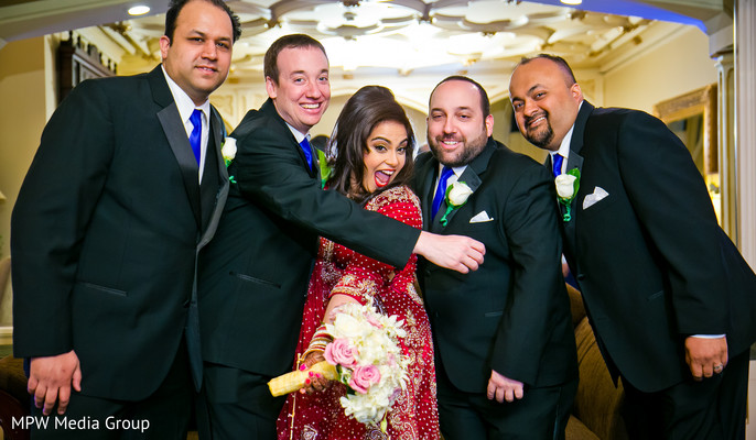 Groomsmen in New Rochelle, NY Indian Wedding by MPW Media Group