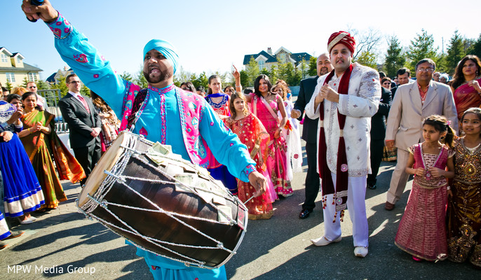 Baraat in New Rochelle, NY Indian Wedding by MPW Media Group